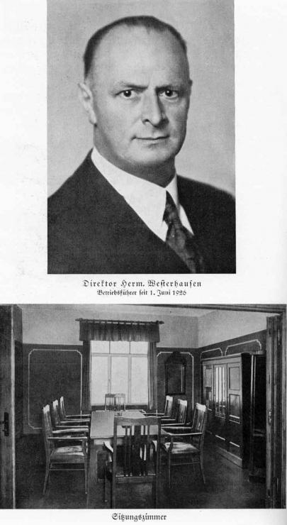 Zuckerfabrik 1865-1940 - Direktor Westerhausen + Sitzungszimmer