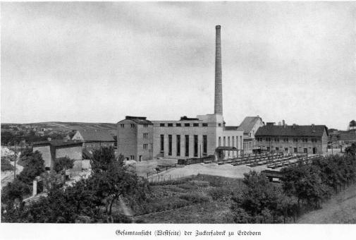 Zuckerfabrik 1865-1940 - Gesamtansicht Westseite