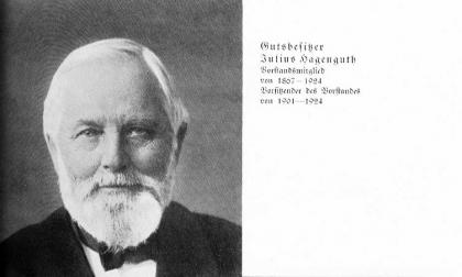Zuckerfabrik 1865-1940 - Gutsbesitzer Hagenguth