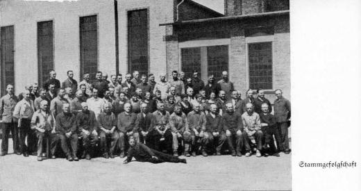 Zuckerfabrik 1865-1940 - Stammgefolgschaft